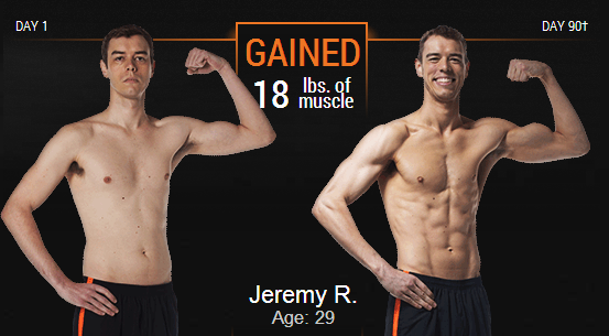 Jeremy Age 29 before and after P90X3 pictures